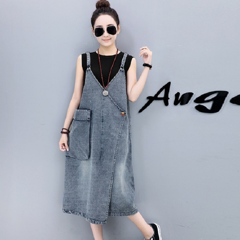 New womens dresses denim fabric suspenders dresses maternity clothing pregnancy dresses maternity clothing 1712