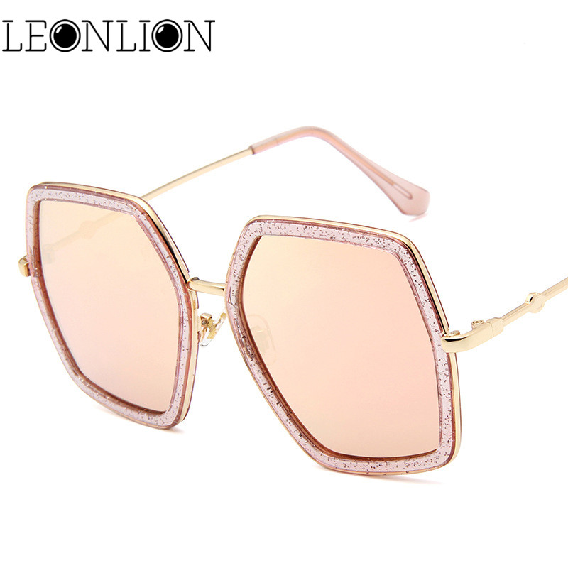 34e211e2b0 Aliexpress.com   Buy LeonLion Polygonal Large Frame Sunglasses Women Men  Designer Travel Luxury Sun Glasses For Women Classic Retro Outdoor Glasses  from ...