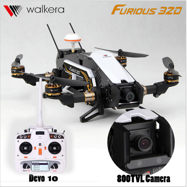 F16886 87 Walkera Furious 320 GPS RC Drone with Camera TVL800 1080P Devo10 2 4G Transmitter