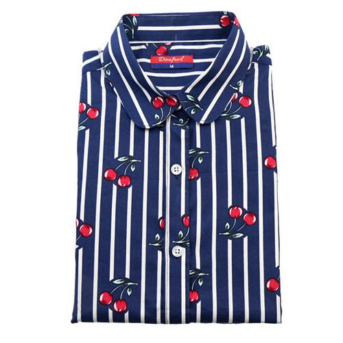 HTB1BPHKJVXXXXbTXpXXq6xXFXXXB - Women Cherry Blouses Long Sleeve Shirt Turn Down Collar Floral Blouse