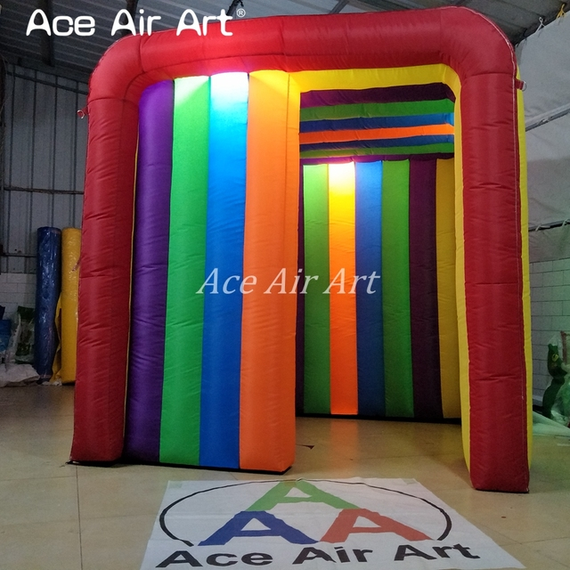1.9x2x1.8m New style beautiful mini colorful inflatable photo booth,funny birthday photo canopy for Chile kids by Ace Air Art