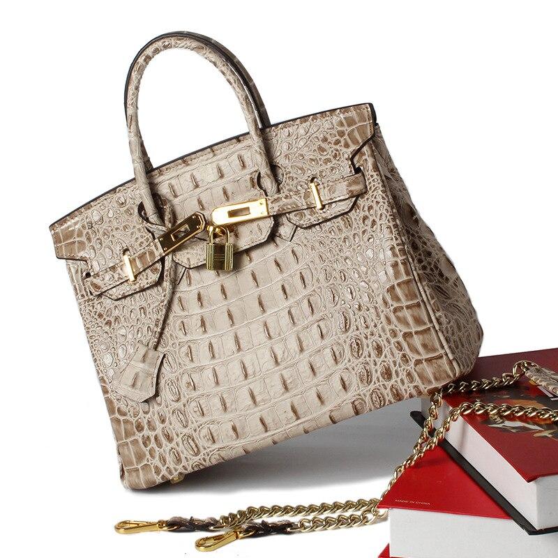 Mode sacs à main De Luxe femmes sacs concepteur En Cuir Véritable femmes sac en relief motif crocodile femmes messenger sacs