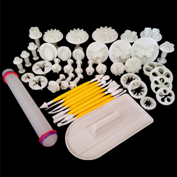 Top Sale 1 Sets 46pcs Fondant Cake Decorating Tools DIY Cookie Sugar Craft Plunger Cutters Tools Cake Decorating tool