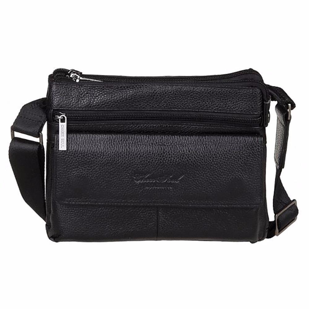 ФОТО Genuine Leather Cowhide Men Business Satchel Fashion Casual Cross Body Bags Designer Brand Male Messenger Single Shoulder Bag