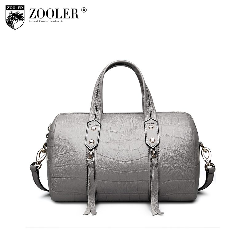 ZOOLER Brand Genuine leather bags for women luxury leather handbags top-handle bag shoulder crossbody bags for women 2017 1201 zooler 2017 new arrival genuine leather handbags woman design top quality crossbody bag luxury brand red ladies bags hs 3211