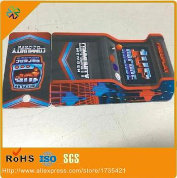 3000pcs/lot)custom size plastic combo cards/special shape custom combo cards with barcode 1