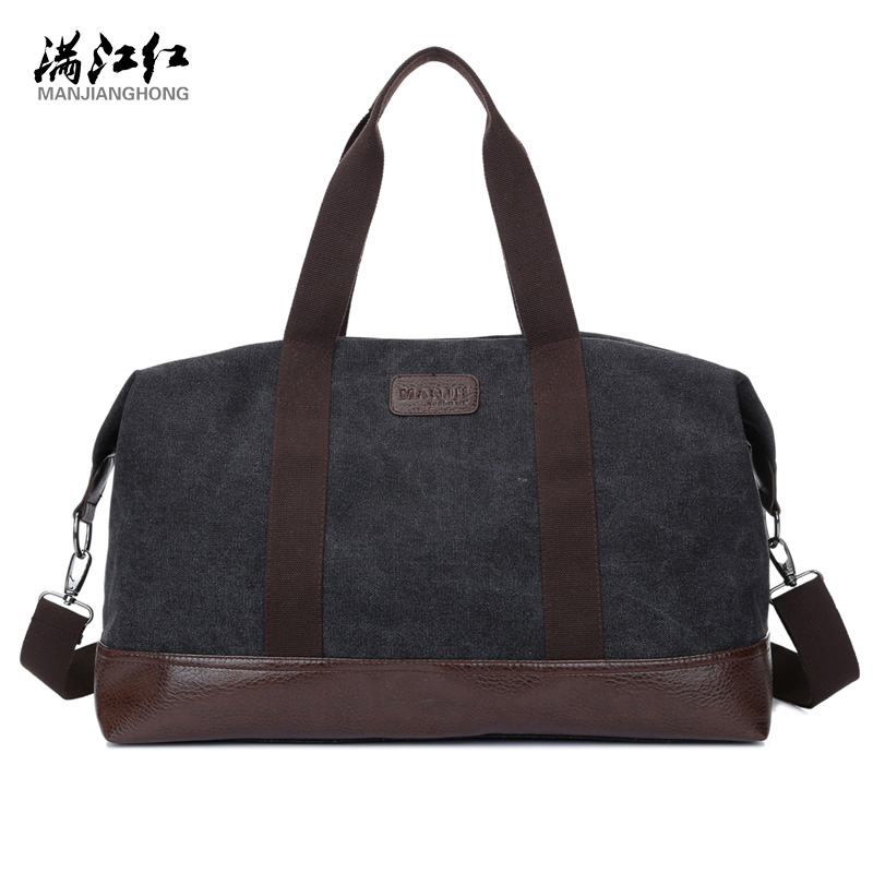Men and Women Canvas Travel Bag Large Men Loose-fitting Luggage Bags Large Thickening Canvas Bag 1316 aosbos fashion portable insulated canvas lunch bag thermal food picnic lunch bags for women kids men cooler lunch box bag tote