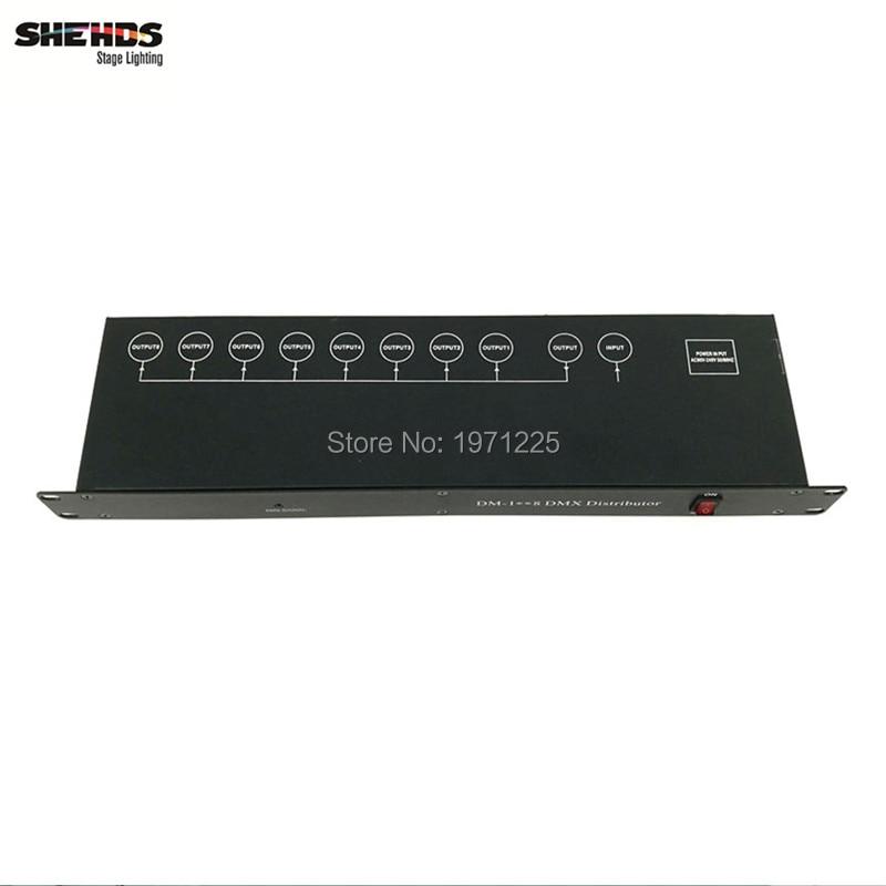 4pcs Stage Light Controller DMX512 Splitter Light Signal Amplifier Splitter 8 way DMX Distributor for stage Equipment dmx512 digital display 24ch dmx address controller dc5v 24v each ch max 3a 8 groups rgb controller