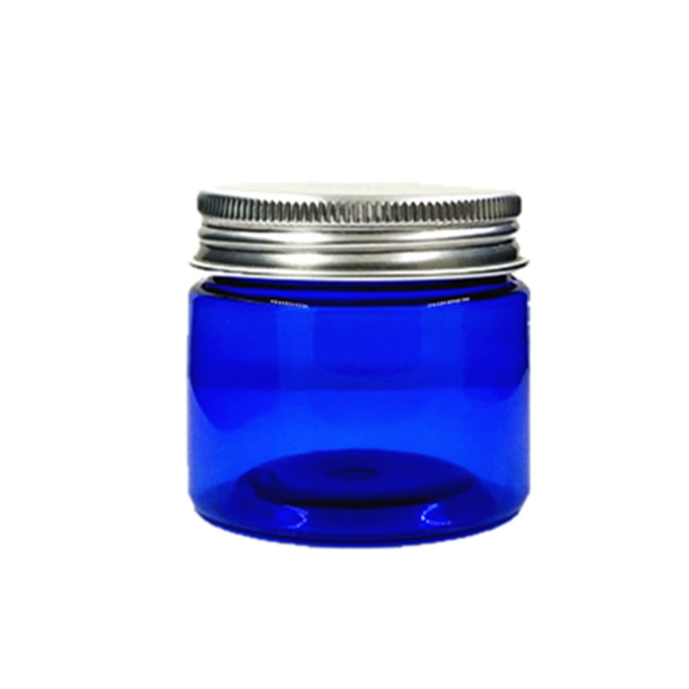 50ml Blue Pet  Jar With Aluminium Cap ,cream /Cosmetic Jar,Cosmetic Packaging,container,bottle