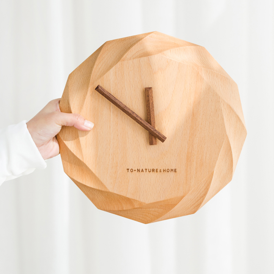 Creative Wood Clock Wall Watch House Decorations Home Watches Zegar Digital Silent Clocks Wanduhren Wall Decor Clock 40A0855