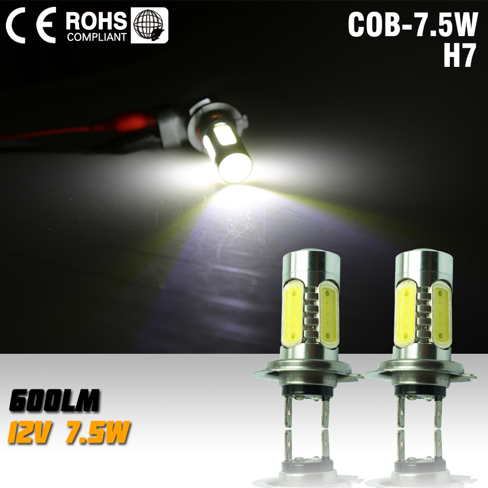 H7 led High Power 7.5W Fog Head Tail Driving Car Light Bulb Lamp DC 12V H7 7.5W parking car light white