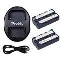 Probty 2 Pcs NP-F550 NP F570 F550 F530 bateria Camera + carregador portátil Dual USB para SONY HD1000C 198 P 190 P 2100E Z1C 5C 7C LED