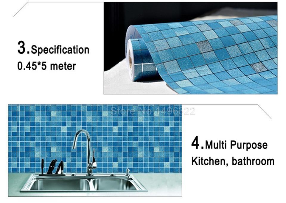 Badkamer Tegel Stickers : Moderne pvc zelfklevende behang badkamer behang keuken waterdicht