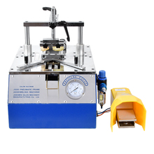 JS203 5211 Bench-Top Type Picture Frame Underpinner 0.6-0.8 MPa Working pressure Desktop pneumatic nail angle machine 110 mm