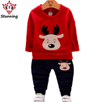 18M 5T Baby Boys Girls Clothes Christmas Costume Autumn Long Sleeve Boys Clothing Sets Fashion Elk