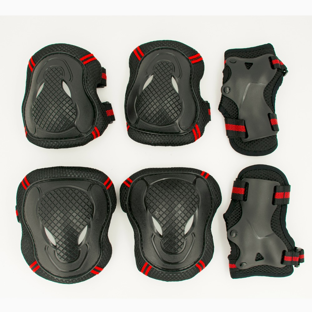 HOT 6pcs/set Skating Protective Gear Set Elbow Pads Bicycle Skateboard Ice Skate Roller Knee Protector For Adult Kids Gift