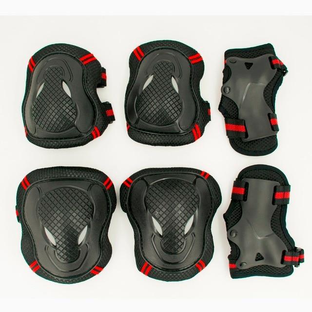 HOT 6 pçs/set Patinação Set Equipamentos de Proteção Cotovelo Protetor de Joelho almofadas Rolo Bicicleta Skate Patinar No Gelo Para Crianças Adulto Presente