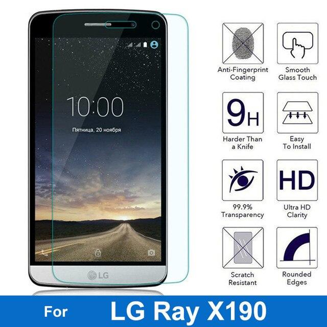 0.26mm 9 H Vetro Temperato Per LG Ray X190 F670 5.5 pollice Anteriore Della Pellicola Della Protezione dello schermo Per LG Ray X190 Caso Della Copertura