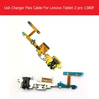Genuine USB Charger Connector Flex Cable For Lenovo Yoga Tablet 2 Pro 1380F USB Charging Flex