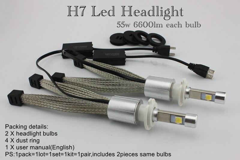 Ossen P70 H7 LED Car Headlight 55w 6600lm 5000k Xenon White Head light H4 H8 H9 H11 9005 HB3 H10 9006 HB4 9012 90047 Headlights 1