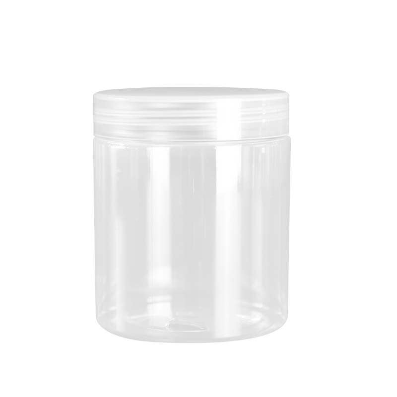 300ml Clear Plastic Food Storage Jar screw Lid Container Box with Spoon BPA Free