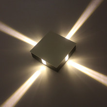 Simple 3W 6W 9W 12W LED Wall Sconces AC85-265V Round Square Indoor Home Foyer Lamp Living room Decoration Light(China)