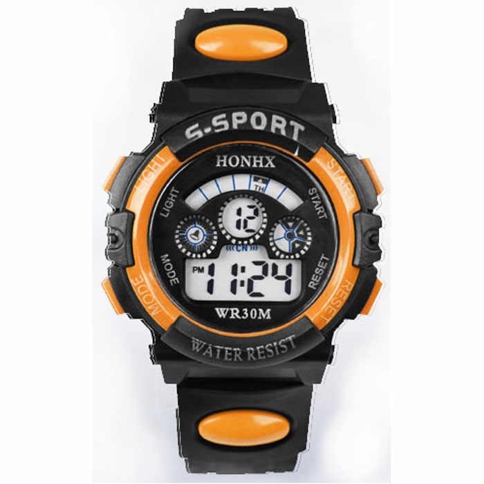 #5001 étanche enfants garçon numérique LED Quartz alarme Date sport montre-bracelet reloj enfants nouveauté livraison gratuite offres spéciales