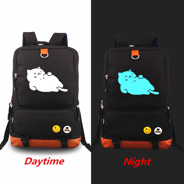 b737bd06c4 New Anime Cat Backyard Luminous Printing Backpack Teenagers School Bags  Laptop Bags Travel Bags Rucksack Backpacks Mochila