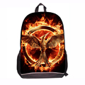 Black 3D Printed Hunger Game Movie Large School Bag for Boys Student Back to School Backpack Bird Wholesale Mochila