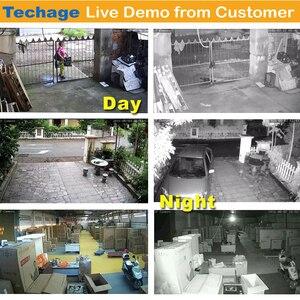 "Image 5 - Techage 8CH 1080P Kit NVR inalámbrico sistema WiFi CCTV 12 ""Pantalla de monitor LCD 2MP cámara de seguridad exterior infrarroja videovigilancia"