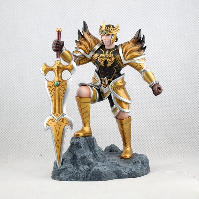 "8""Game League of Legends Jarvan IV the Exemplar of Demacia Action Figure Toy Doll Brinquedos Figurals Collection LOL Model Gift"
