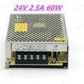CE 60 W 24 V 2.5A fuente de alimentación conmutada de 100 v llevó el conductor 220 v a 24 v convertidor de fuente de alimentación conmutada para amplificador transformador ac dc