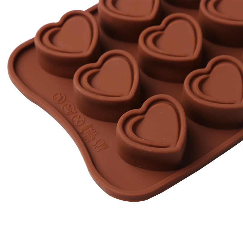 1 قطعة على شكل قلب 3D سيليكون الشوكولاته هلام الحلوى كعكة قالب الخبز DIY المعجنات بار كتلة الجليد الصابون الهدايا قالب الخبز أداة