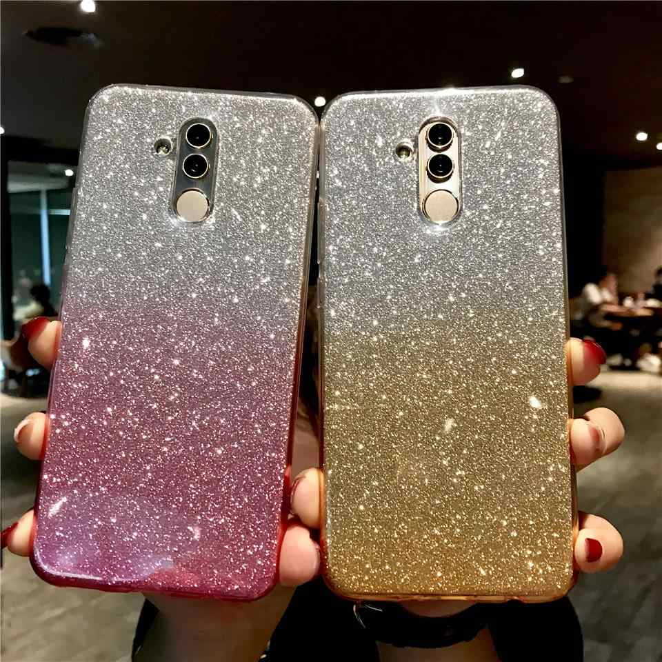Glitter Case For Huawei Mate 20 Lite Gradient TPU Shining Cover P30 Pro P20 P10 Nova 4 3 Honor 10 9 8 8X 7X 6X 6A 7A 5A 7C 6C 5C