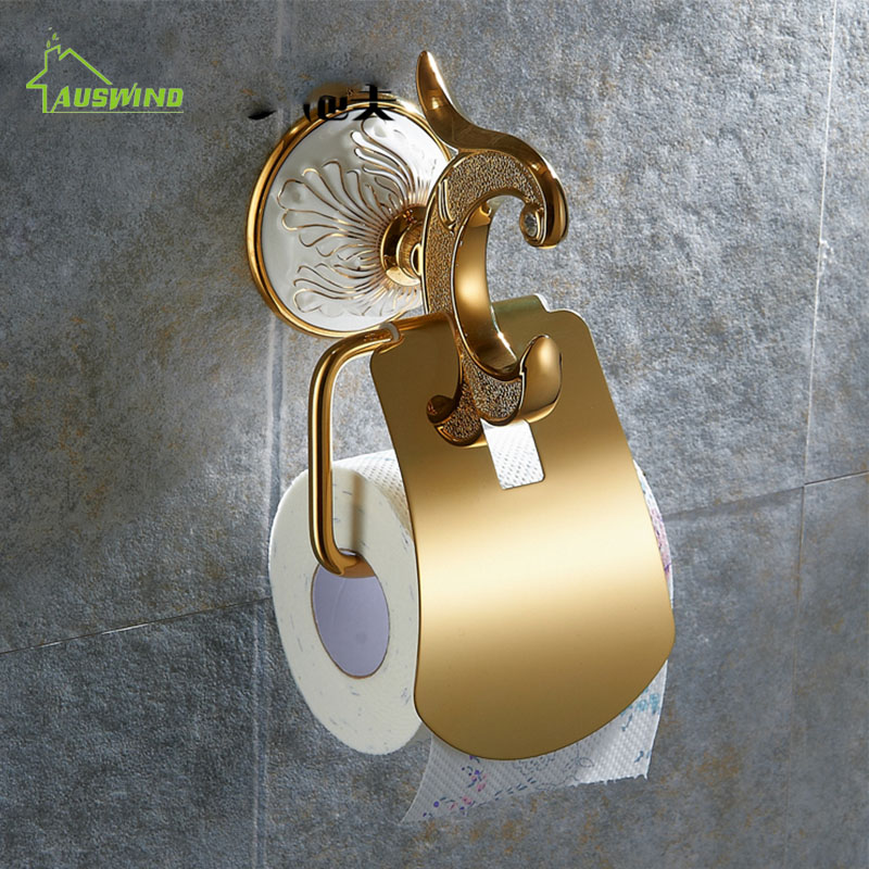 European Ceramic Gold Toilet Paper Holder  Roll Holder Tissue Holder Solid Brass Bathroom Accessories Products Paper Hanger stereo microscope 1 2ctv ccd camera interface electronics interface c interface electronic eyepiece interface