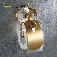 European Ceramic Gold Toilet Paper Holder Roll Holder Tissue Holder Solid Brass Bathroom Accessories Products Paper Hanger