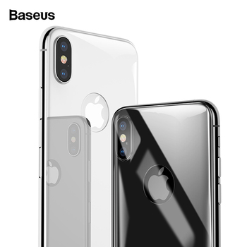 Baseus Back Screen Protector Tempered Glass For iPhone Xs Max XR Full Cover Rear Protection Toughened Glass Film For iPhoneXS 1