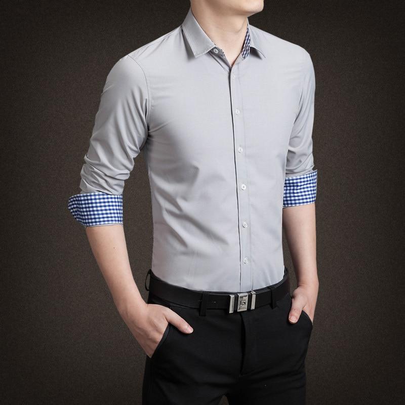 2015 New Cotton Mens Plaid Shirt շքեղ Տղամարդկանց - Տղամարդկանց հագուստ - Լուսանկար 3