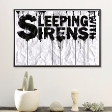 Sleeping With Sirens Music Canvas Art Print Painting Poster Wall Pictures For Living Room Home Decoration Decor No Frame