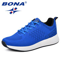 BONA Men Casual Shoes Popular Breathable Male Tenis Masculino Shoes Zapatos Hombre Sapatos Outdoor Shoes Sneakers Men Footwear
