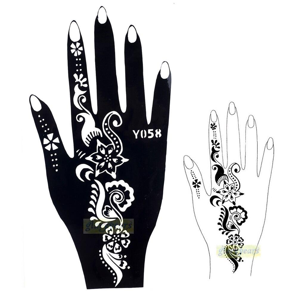 1 stück Heißen Hohe Qualität Schwarz Henna Airbrush Tattoo Schablone schönheit & Gesundheit Für Frauen Hand Körper Kunst Malerei Design Y058