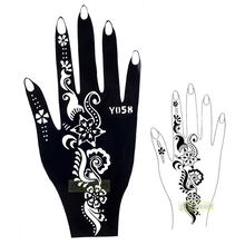 1pc Hot Black Henna Airbrush Temporary Tattoo Stencil Beauty & Health For Women Hand Body Art Painting Design Y058