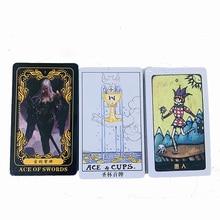 цена Mysterious/Constellation/Collection Tarot 78 PCS/Set Cards Tarot Board Game Chinese/English Edition Cards Game онлайн в 2017 году