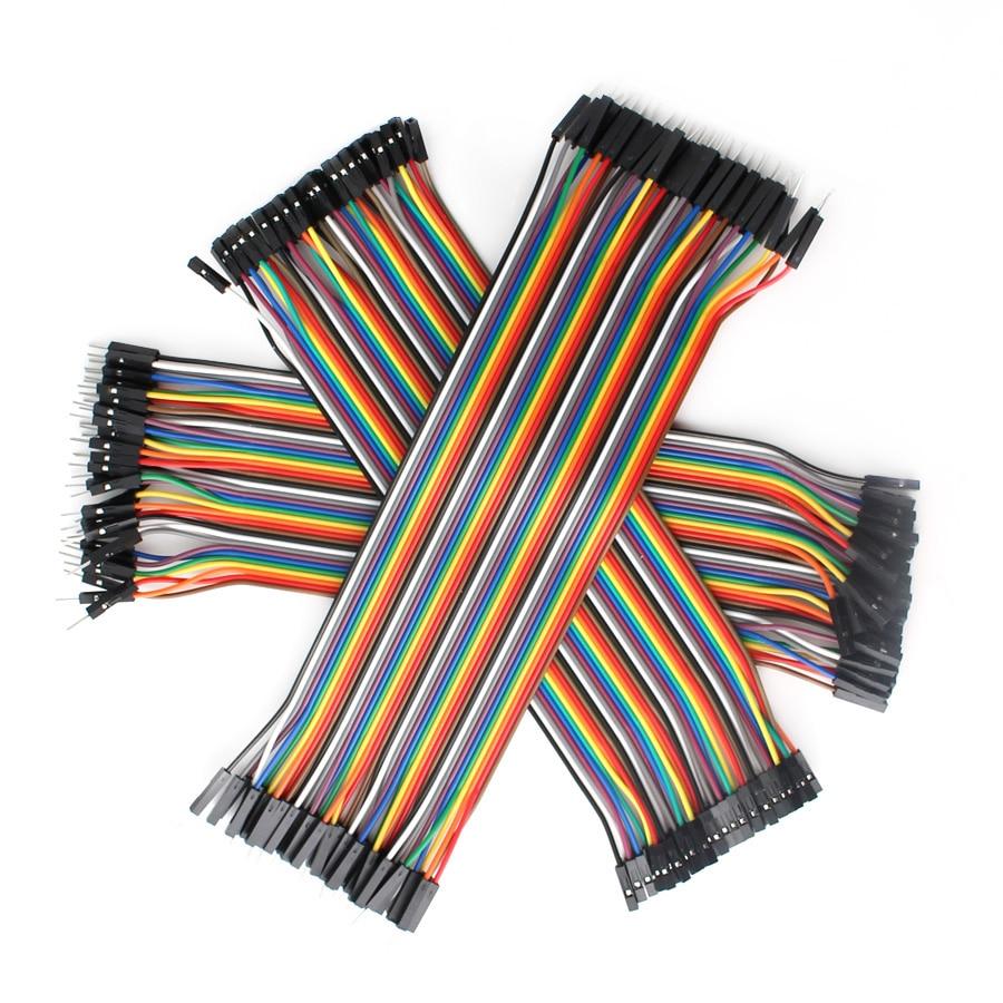 Câble Dupont fil de raccordement 30CM homme à homme   Femelle à mâle + femelle à femelle, cavalier en fil de cuivre Dupont kit de câbles de bricolage