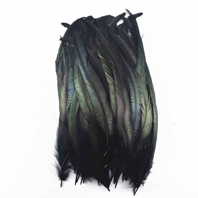 20 יח'\חבילה שחור נוצות תרנגול אווז נוצות פסיון אמנות צבוע עוף ברווז טווס חתונת אב קישוט נוצות