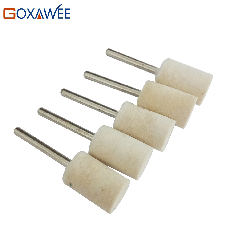 Hot 5pcs Abrasive Stone Tools Felt Buffing Wheels Set Felt Polisher Dremel Accessories Polishing Grinding For Dremel Rotary Tool Инструмент