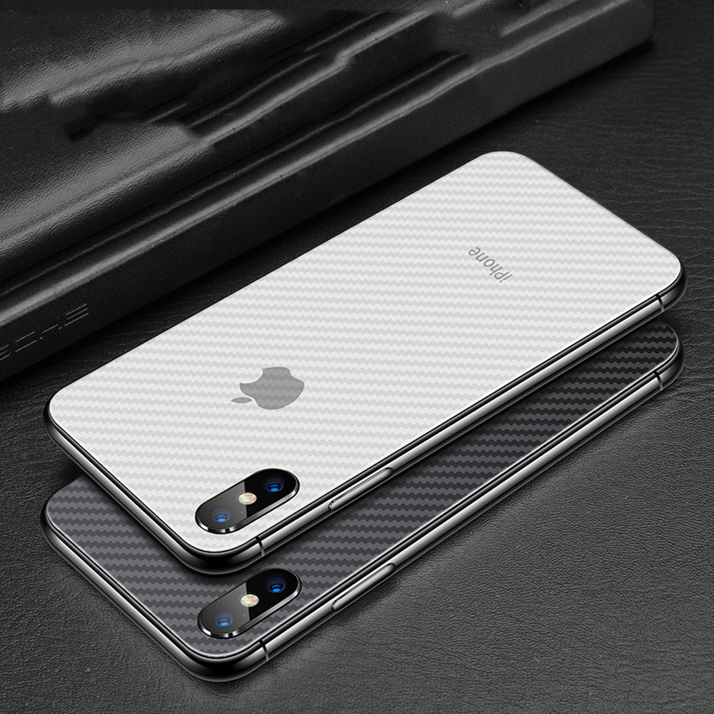 Image 5 - Buyruo Carbon Fiber Soft Back Screen Protector Sticker For apple iPhone XS Max XR Film full cover For iphone X 7 8 6 6S Plus-in Screen Protectors from Consumer Electronics