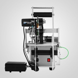 120W Semi-automatic Round Bottle Labeling Machine for PET Bottle 220V UK Plug