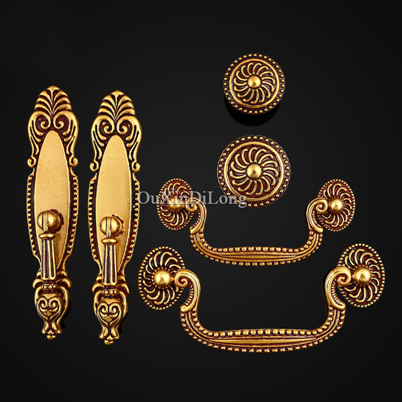Retro Style 10PCS European Antique Kitchen Door Furniture Handles Cupboard Drawer Wardrobe Wine Cabinet Pulls Handles and Knobs