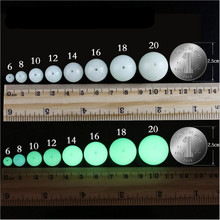 10pcs Night Luminous Glowing Beads,Iceland Spar Crystal Light Gem Stone Beads for Locket Necklace Pendants DIY Jewelry Making